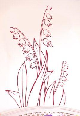 stickers fille fleur
