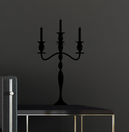 Le stickers chandelier baroque pied en noir