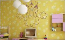 Le stickers château nuage pour décorer une chambre d\'enfant