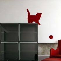 Stickers chaton avec balle