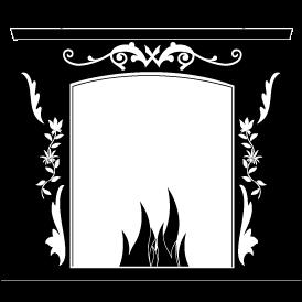 Stickers cheminée noire pour la déco d\'intérieure