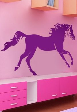Stickers cheval au trot