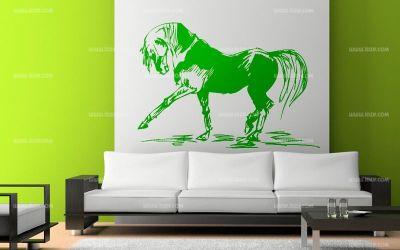 stickers cheval dans l 39 eau. Black Bedroom Furniture Sets. Home Design Ideas