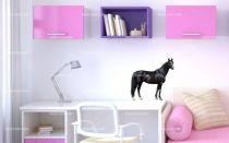 Stickers cheval noir