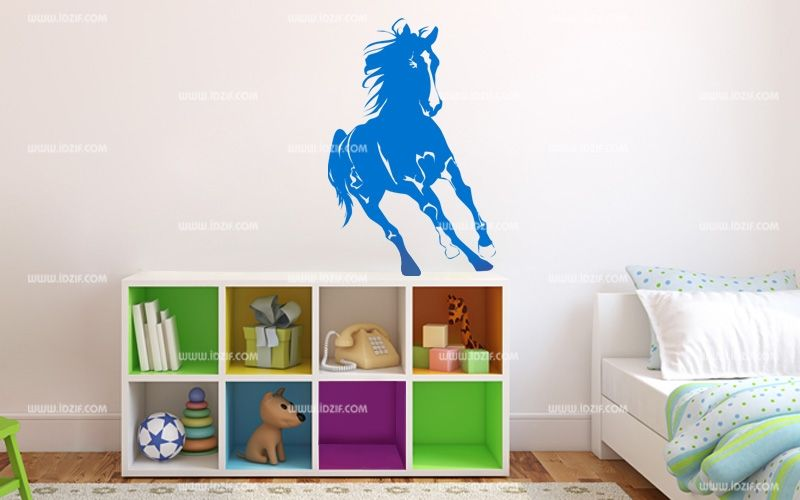 Stickers cheval qui tourne