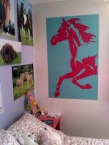 stickers cheval rose