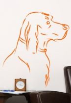 Stickers chien au trait