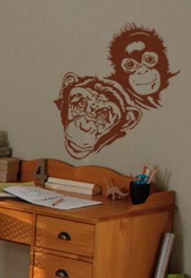 Stickers chimpanzés