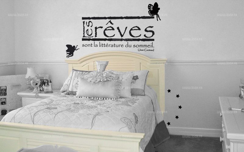 stickers citation les r ves sont la litt rature du sommeil. Black Bedroom Furniture Sets. Home Design Ideas
