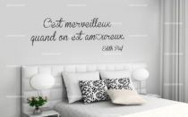 Stickers citations - Stickers ecriture chambre ...