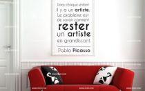 Stickers citation enfant artiste