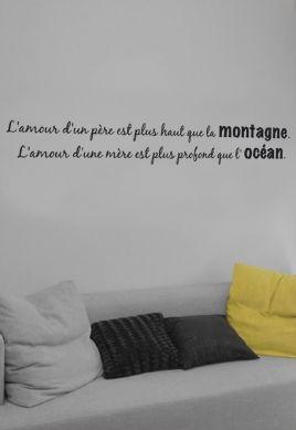 stickers citation amour pere et mere