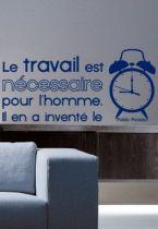 Stickers citation réveil et travail