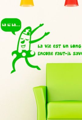 Stickers citation sur la vie