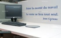 Stickers citation sur le travail