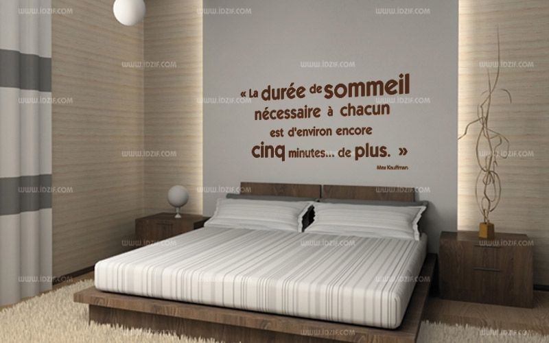 stickers citation t te de lit. Black Bedroom Furniture Sets. Home Design Ideas