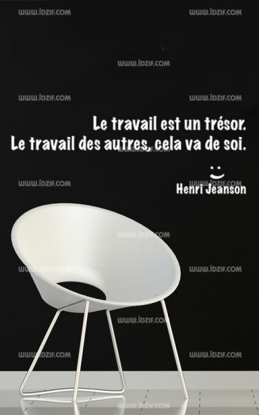 Stickers citation travail