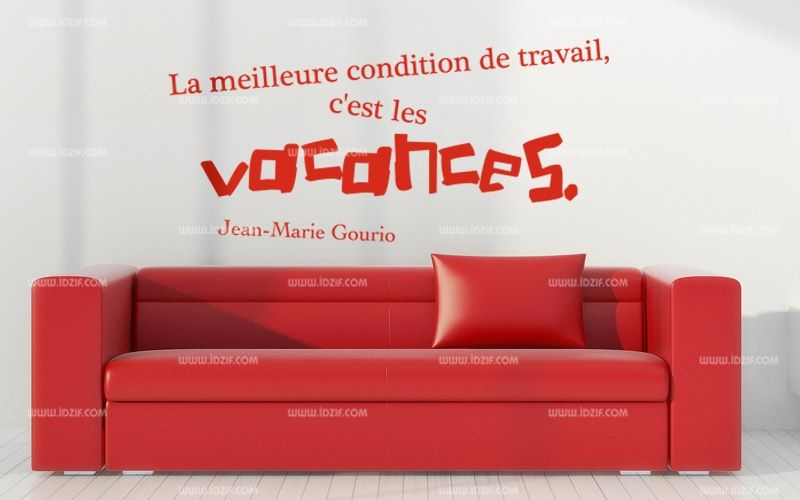 Stickers citation vacances