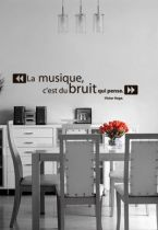 stickers citations : La musique, c\'est du bruit qui pense