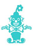 Stickers clown joyeux
