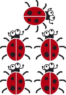 stickers coccinelles pour la décoration d\'une chambre enfant