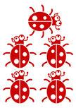 stickers coccinelles enfants. LADYBIRD. 5 stickers coccinelles  pour chambre d\'enfants. Autocollant coccinelle fabriqué sur mesure, à vous de choisir la couleur et la taille