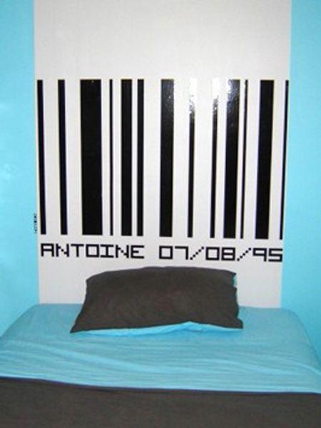 Stickers Code barre à personnaliser