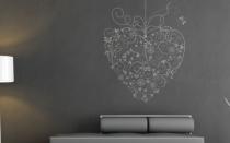 Le stickers coeur au noeud suspendu pour décorer l\'intérieur