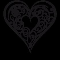 Le stickers coeur ornement pour décorer l\'intérieur