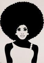 stickers femme afrique