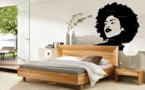 stickers femme afro