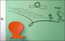 Le stickers comptine pour décorer une chambre d\'enfant