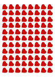 Stickers confettis coeurs
