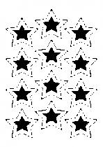 Stickers confettis etoiles