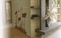 stickers coquelicots. Des fleurs envoûtantes découpées à la forme dans un vinyle adhésif uni. Ce superbe sticker de coquelicot est tout simplement magique et habillera de manière élégante vos murs.