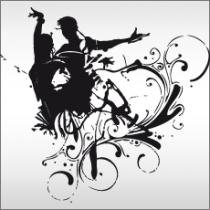 Le stickers couple de danseurs pour une décoration sport