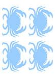 stickers crabes