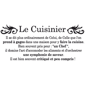 Le stickers cuisine chef pour la décoration d\'intérieure
