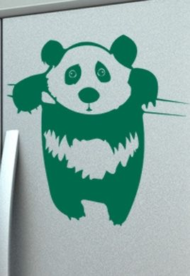 Stickers cuisine panda