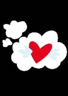 Stickers cœur dans la bulle
