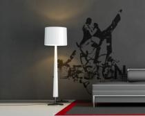 Le stickers danseurs design pour décorer sur le thème du sport