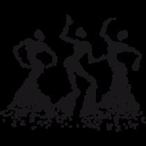 Le stickers danseuses africaines en noir pour une décoration exotique