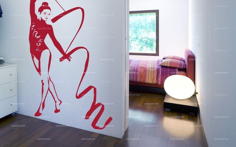 Stickers danseuse au ruban