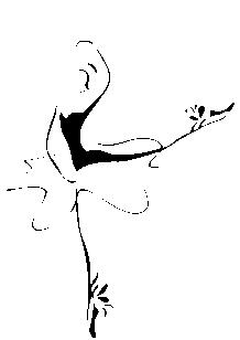 Stickers danseuse classique.
