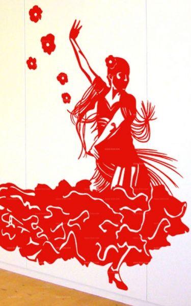 Ambiance espagnole avec ce stickers danseuse de flamenco en vente sur iDzif.com
