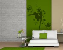 Le stickers danseuse et les fleurs pour décorer sur le thème du sport