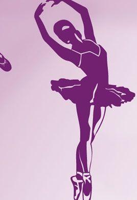 stickers danseuse étoile pour décoration d\'une chambre de fille