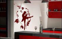 Le stickers danseuse étoile florale pour décorer sur le thème du sport