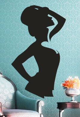 stickers silhouette femme