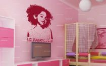 Stickers Déco Photo + texte personnalisé 120x100cm